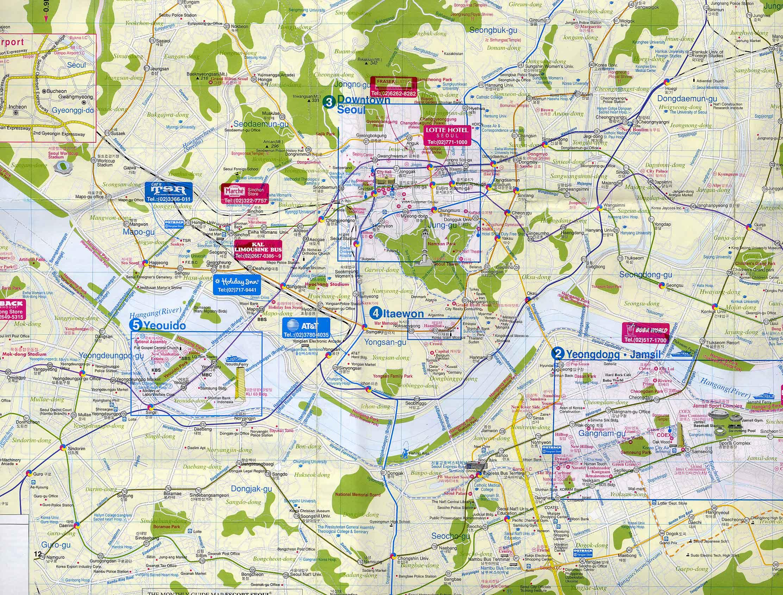 Seoul Korea Map In English.Maps Of Korea And Korean Cities Koreabridge
