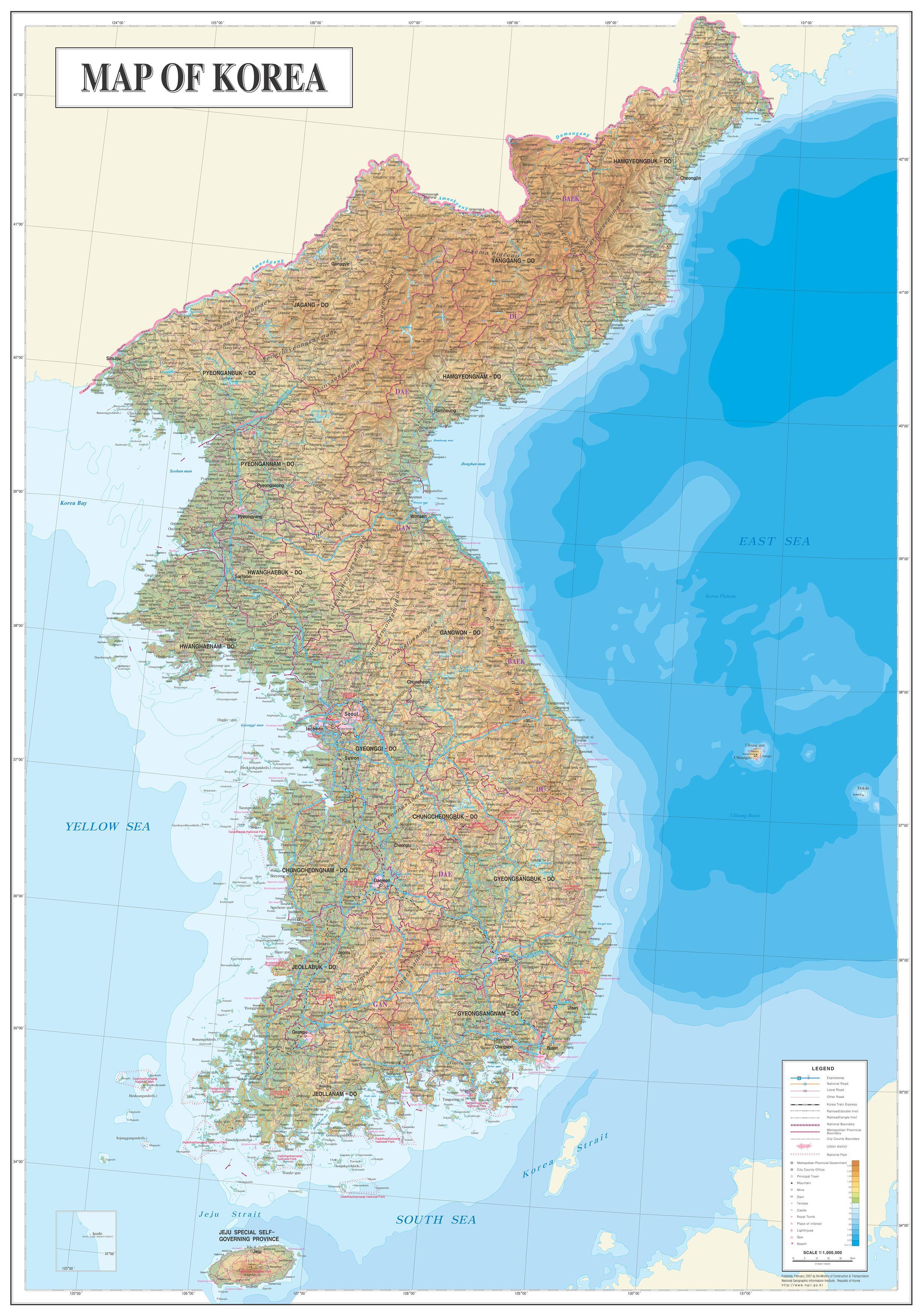 Maps of Korea and Korean Cities | Koreabridge