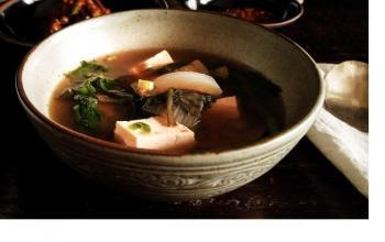 Crown Daisy Doenjang-guk: A Light Summer Soup With a Green Herbal Kick