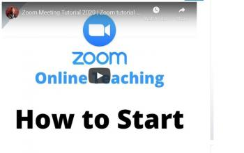 Using Zoom for Online Teaching