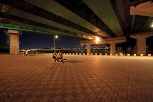 Under Hannam Bridge at night, Han River, Seoul