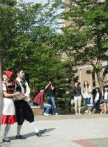 Koreans Dressed as Germans... Spring is in Busan for Sure.