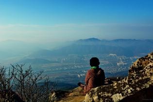 Grandmother at Mt. Geumjeong