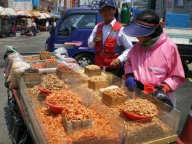 Jagalchi shrimp stand