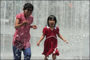 Fountains near Busan Station