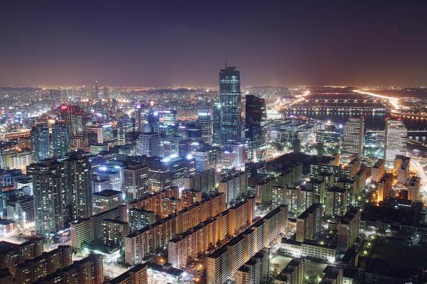 Seoul City Night View Koreabridge